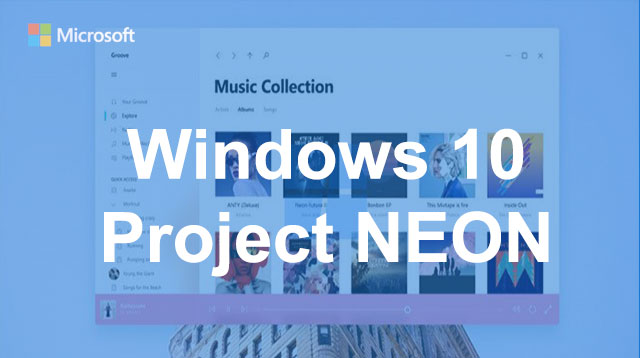 Windows 10 si rifà il look. Project Neon.